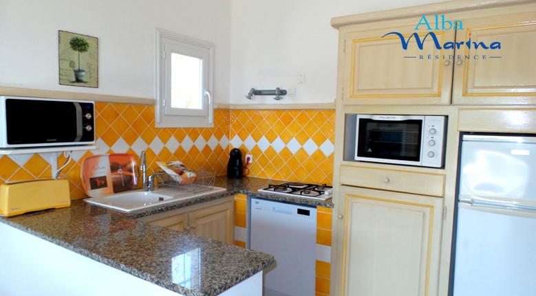 Cuisine americaine villa 2 chambres de plain pied