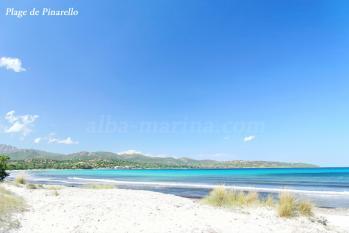 La plage de Pinarello proche de la résidence Alba-Marina
