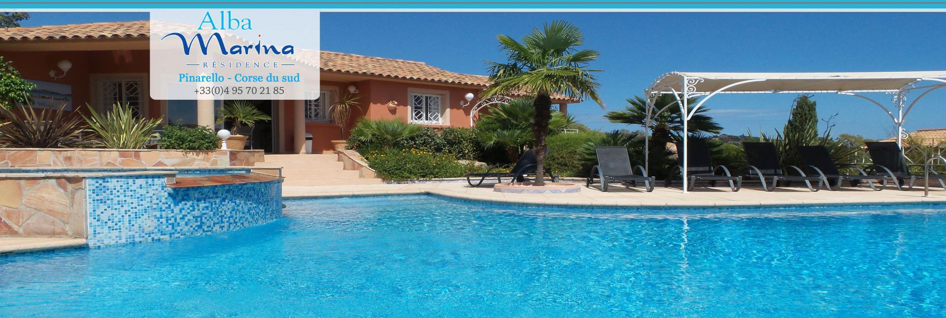 R sidence corse du sud location pinarello alba marina for Residence porto vecchio avec piscine