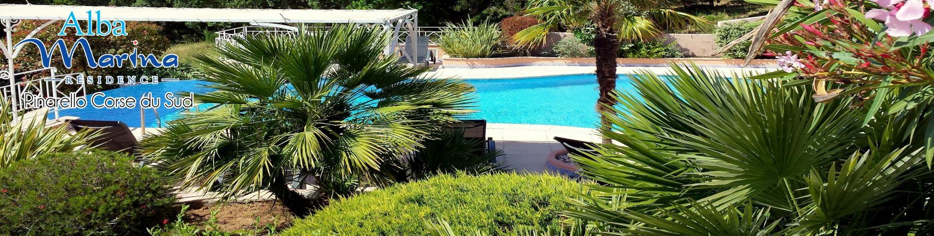 Location avec piscine et vue mer porto vecchio